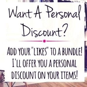 ADD YOUR LIKES TO A BUNDLE :) :) :)